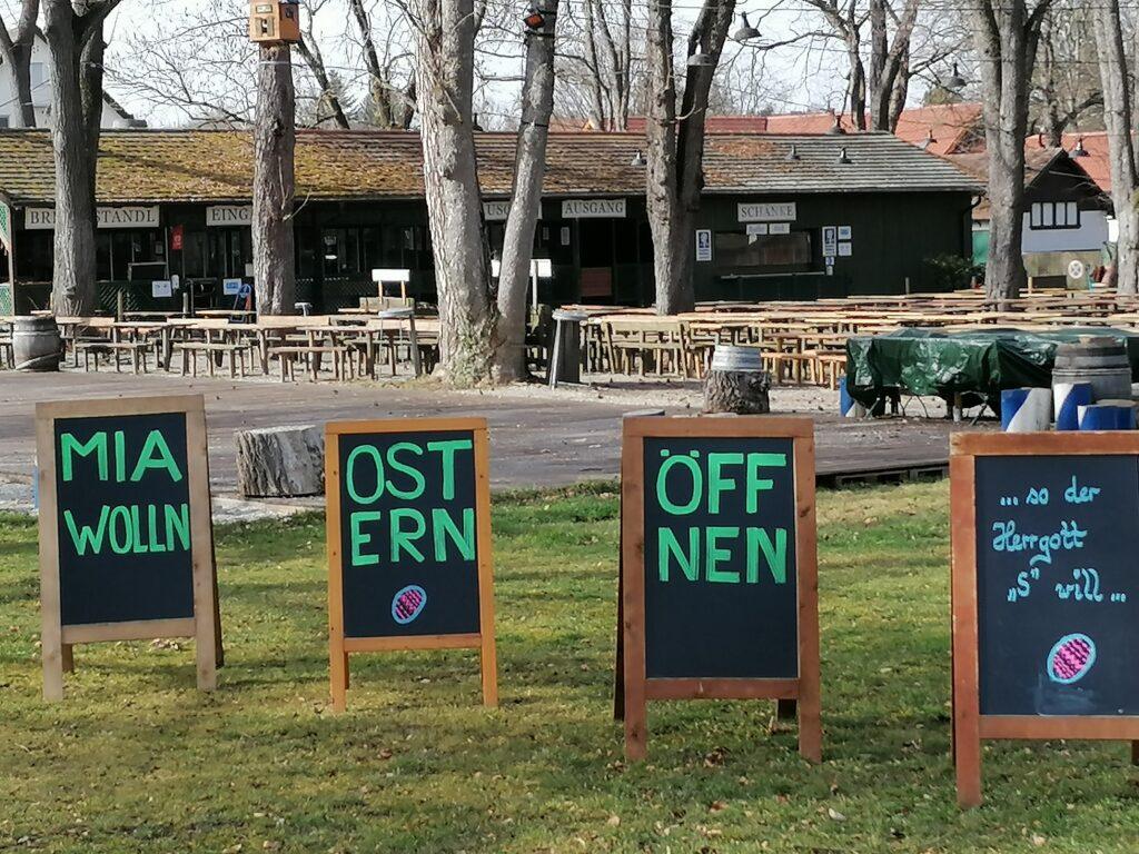 Der Biergarten Schützengarten möchte Ostern öffnen