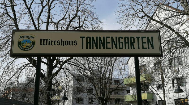 Die grüne Oase in Sendling, der Biergarten Tannengarten