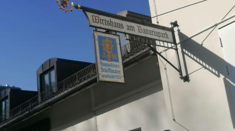 Biergarten am Bavariapark oberhalb der Theresienwiese