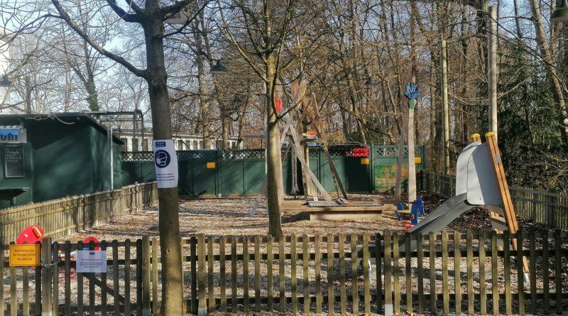 Der Kinderspielplatz am Biergarten am Bavariapark