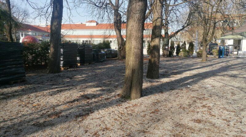 Der Selbstbedienungsbereich im Winter