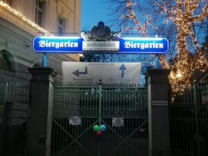 Hofbräukeller Biergarten Wiener Platz Eingang