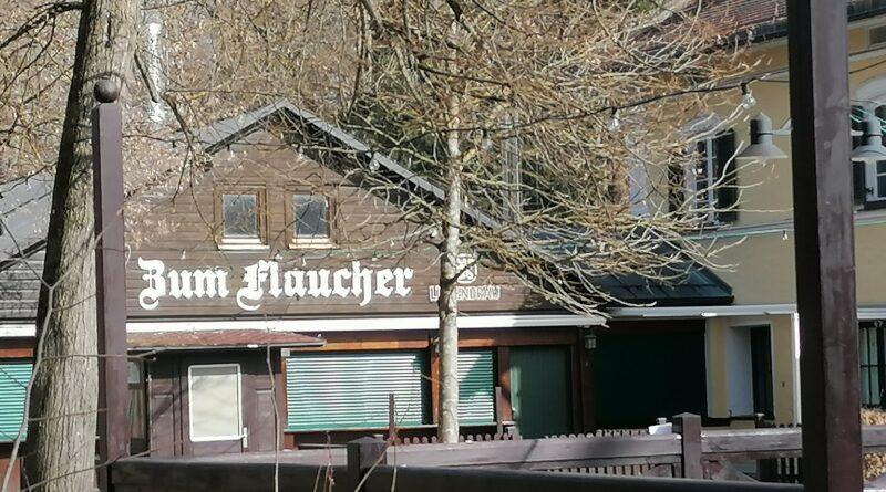 Der Biergarten Zum Flaucher in den Isarauen