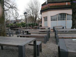 Paulaner am Nockherberg Biergarten Bedienbereich