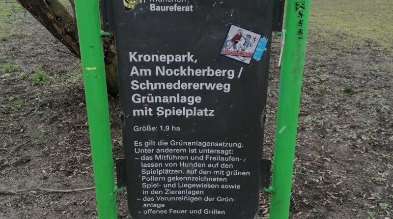 Der Kronepark gegenüber