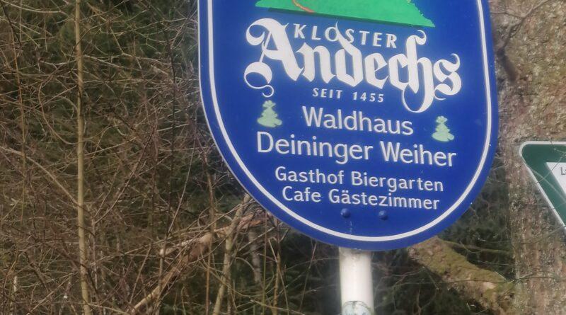 Andechser Bier im Waldhaus Deininger Weiher