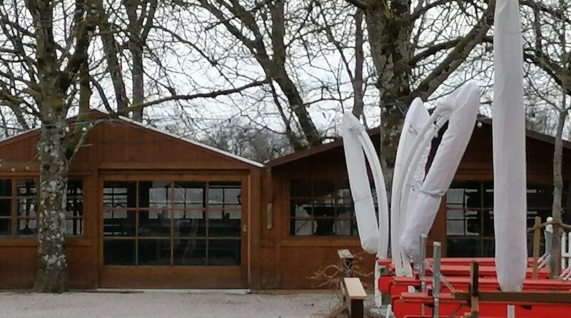 Die Buden in der Waldwirtschaft München