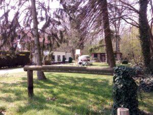 Der Fahrradparkplatz am Landgasthof zur Fluchtburg