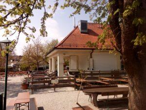 Der Bedienbereich am Biergarten Franziskanergarten