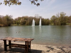 Der See am Biergarten Michaeligarten Gästebereich