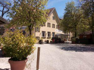 Das Gasthaus vom Biergarten Waldheim