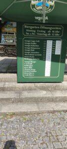 Die Getränkekarte im Biergarten Ayinger Ottobrunn Preistafel